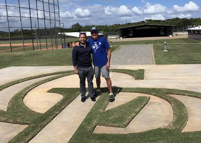 With Rockies Angel Amparo at their facility in the Dominican Republic